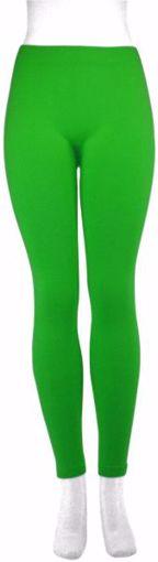 Picture of Women's Plain Footless Leggings - Apple Green