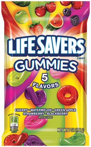 Picture of Lifesavers Gummies 5 Flavor Peg 7oz (12 Units)