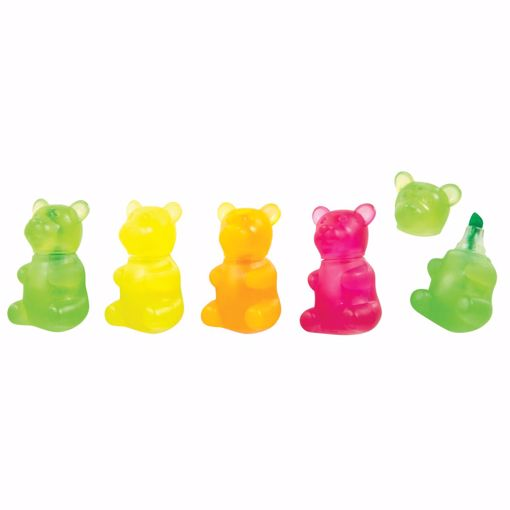 Picture of Gummy Bear Highlighter - 24 Count, Glow in the Dark, Chisel Tip (24 Units)
