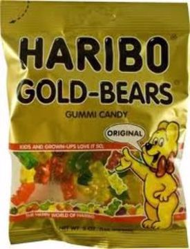 Picture of Haribo Gold Bears Peg 5 Oz