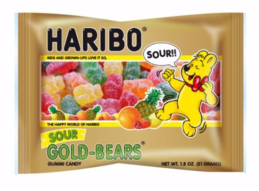 Picture of Haribo Sour Gold Bears 1.8oz (pack of 144)