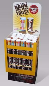 Picture of Tootsie Roll Bank 2 Assorted 4 Ounce Display (pack of 120)
