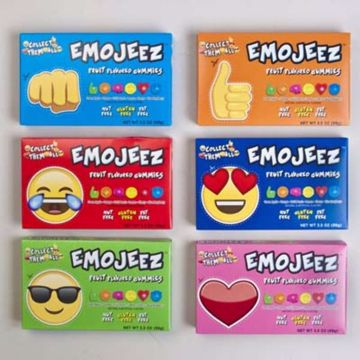 Picture of Gummi Emojeez Fruit Flavor - 6 Assorted (pack of 96)