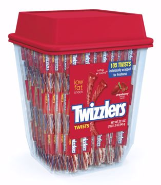 Picture of Twizzler Strawberry Twist Canister 36.75oz (pack of 6)