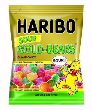 Picture of Haribo Sour Gold Bears Peg 4.5oz