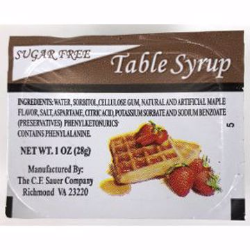 Picture of CF Sauer Sugar Free Table Syrup 1 oz Cup