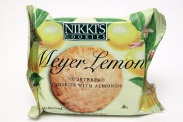 Picture of Nikki's Cookies - Meyer Lemon Shortbread w/almonds.