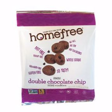 Picture of Homefree Gluten Free Double Chocolate Chip Mini Cookies