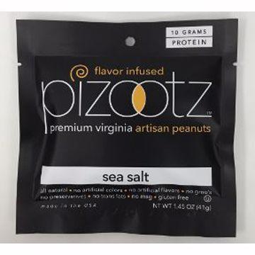Picture of Pizootz Sea Salt Flavor Infused Premium Virginia Gourmet Artisan Peanuts