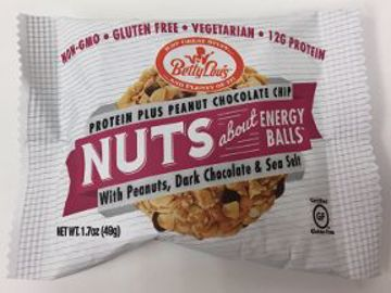 Picture of Betty Lou's Nuts about Energy Balls with Peanuts Dark Chocolate and Sea Salt
