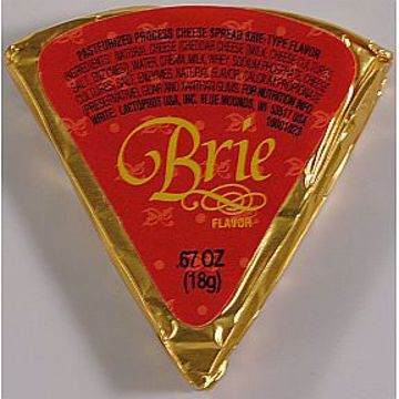 Picture of Gourmet Brie Flavor Cheese Spread Wedge