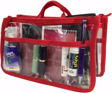 Picture of Handbag Organizer - Clear/Red