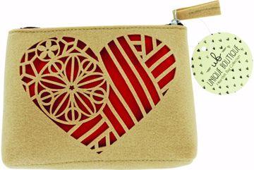 Picture of Unique Boutique Heart Felt Bag (pack of 48)