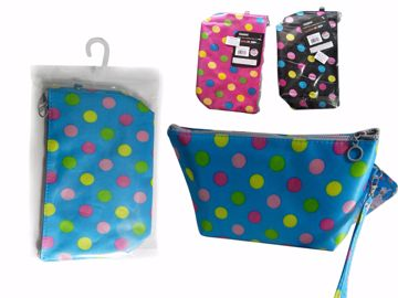 Picture of Polka Dot Print Cosmetic Bag
