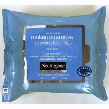 Picture of Neutrogena Makeup remover cleansing cloth - 25 count (pack of 24)