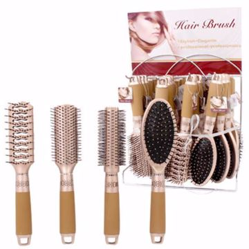 Picture of Golden Hairbrush On Display - Assorted (pack of 64)