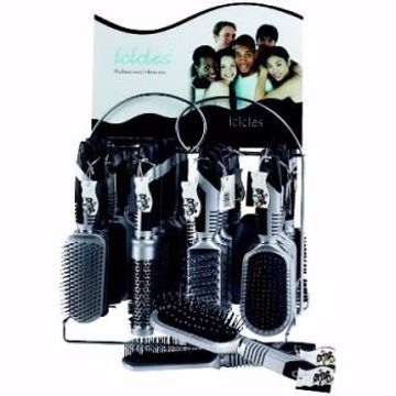 Picture of Icicles Hairbrush on Display Rack (pack of 144)