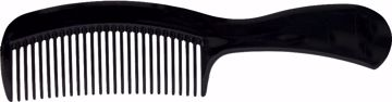 "Picture of 6.5"" Black Handle Comb"