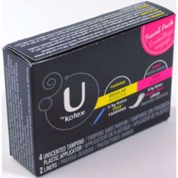 Picture of U By Kotex Travel Pack Tampons & Liners 6 Count