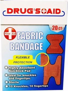 Picture of First Aid Fabric Bandages 20 Count (pack of 48)