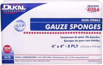 "Picture of Dukal 8-Ply Non-Sterile Gauze Sponge 4"" x 4"" 200 Count"