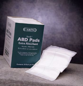 "Picture of Caring ABD/Combine Sterile Pads 8"" x 10"""