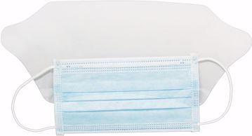 Picture of Dukal Surgical Mask w/Ear Loop, Fluid Shield, Blue, Non-Sterile, 25/bx 8bx/cs