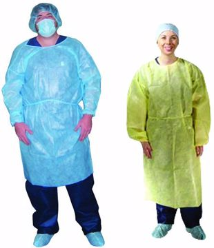 Picture of Dukal Economy Isolation Gown, Non-Sterile, 10/bg 5bg/cs