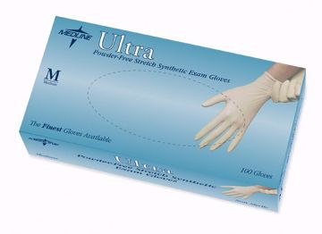 Picture of Medline Ultra Synthetic Exam Gloves - Medium