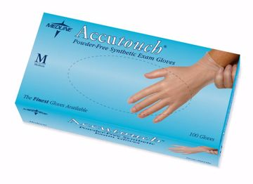 Picture of Medline Accutouch Synthetic Exam Gloves-Medium 100 Count
