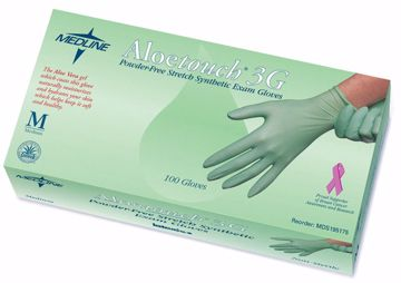 Picture of Medline Aloetouch 3G Exam Gloves - Large 100 ct