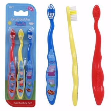 Picture of Brush Buddies Peppa Pig Kids' Toothbrush 3Pk -Soft (pack of 24)