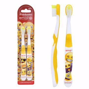 Picture of Brush Buddies 2-Pack Emoji Toothbrush