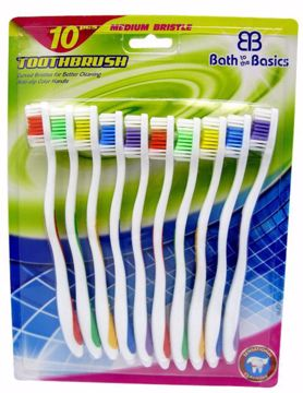 Picture of 10 Piece Value Pack Toothbrushes