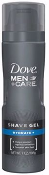 Picture of Dove Men+Care Shave Gel, Hydrate Plus 7 oz Pack of (12)