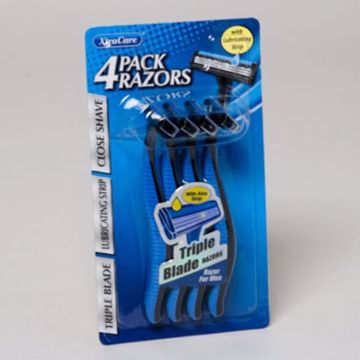 Picture of 4 pack of men's triple blade razors