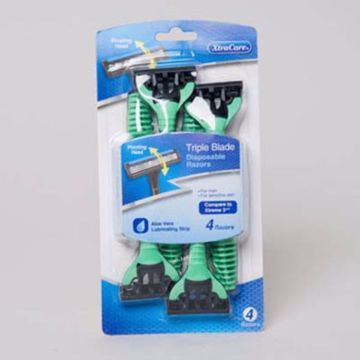 Picture of 4 pack of men's triple blade pivot head razors
