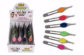 Picture of Mini Cushion Grip Tweezers (pack of 24)
