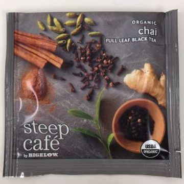 Picture of Steep Café by Bigelow Organic Chai Black Tea