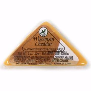Picture of Northwoods Cheese Wisconsin Cheddar Triangle