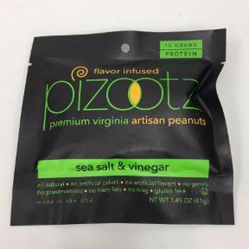 Picture of Pizootz Sea Salt & Vinegar Flavor Infused Premium Virginia Gourmet Artisan Peanuts
