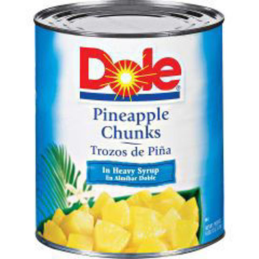 Picture of Dole - Pineapple Chunks in Heavy Syrup -#10 cans 6/case