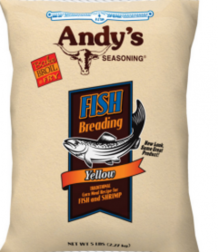 Picture of Andys - Yellow Meal Fish Breading - 5 lbs 6/case