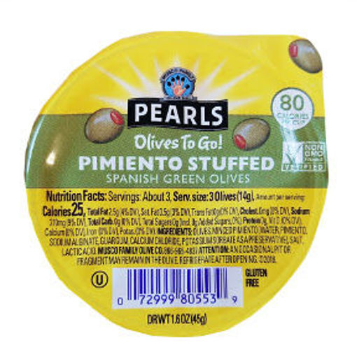 Picture of Pearls Olives To Go - Pimento Stuffed Green Olives (14 Units)