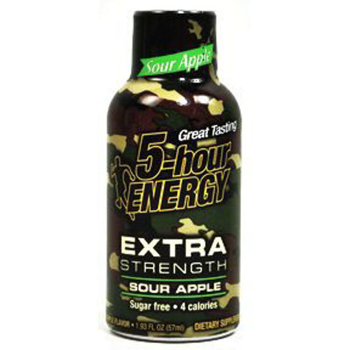 Picture of 5-hour Energy drink dietary supplement Extra Strength - Sour Apple (9 Units)
