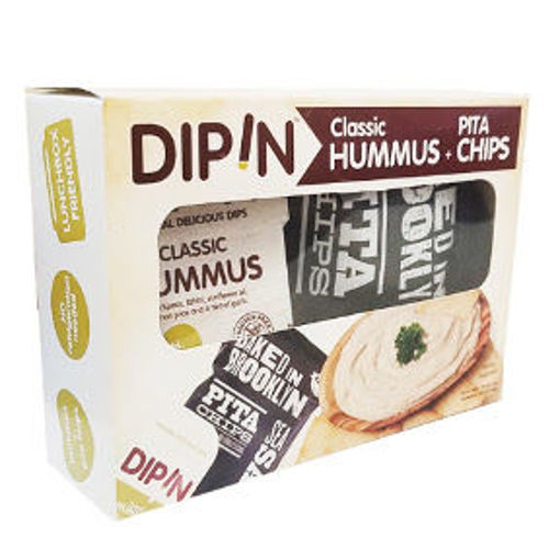 Picture of DipIn - Classic Hummus w/ Baked in Brooklyn Pita Chips (8 Units)