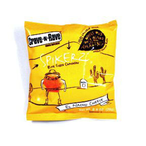 Picture of Crave-N-Rave Spikerz Bite Size Crackers - El Nacho Cheese (63 Units)