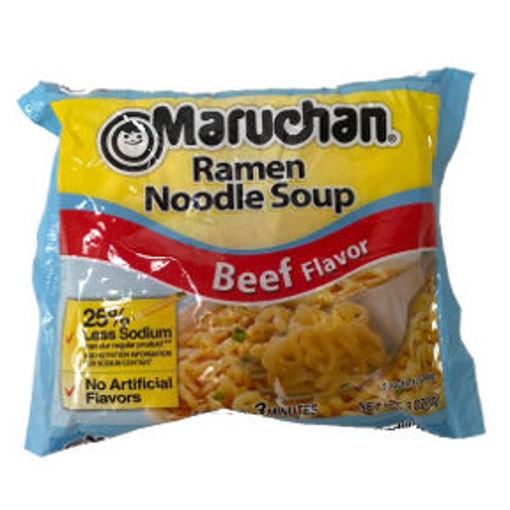 Picture of Maruchan Beef Flavor Ramen Noodle Soup (35 Units)