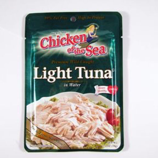 Picture of Chicken of the Sea Light Tuna in water - pouch (12 Units)