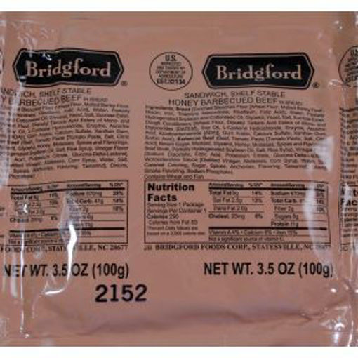 Picture of Bridgford Honey BBQ Beef Pocket Sandwich (4 Units)